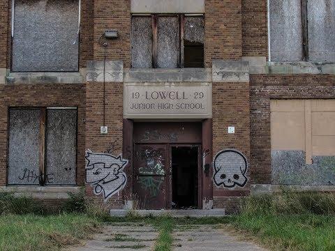 Abandoned Lowell Junior High School. Flint, MI.