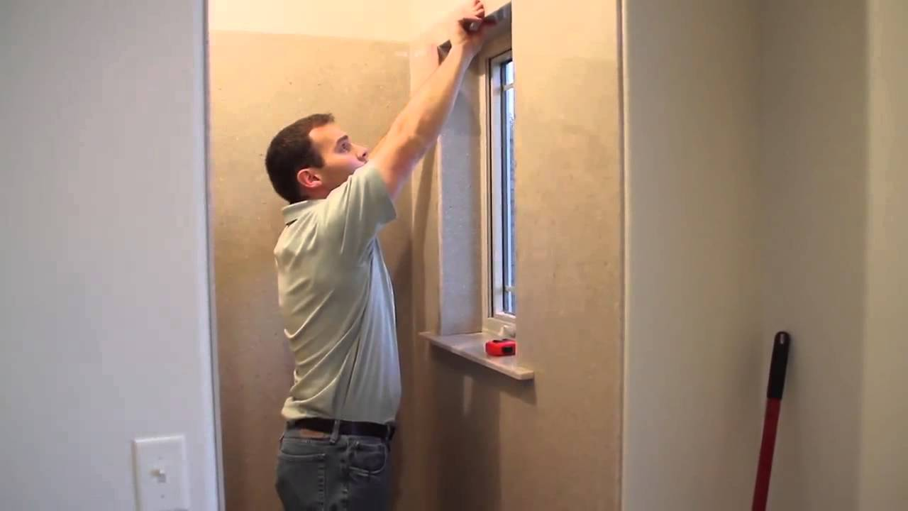 Bathroom Window Molding onyx shower installation - window sill and casing trim - youtube