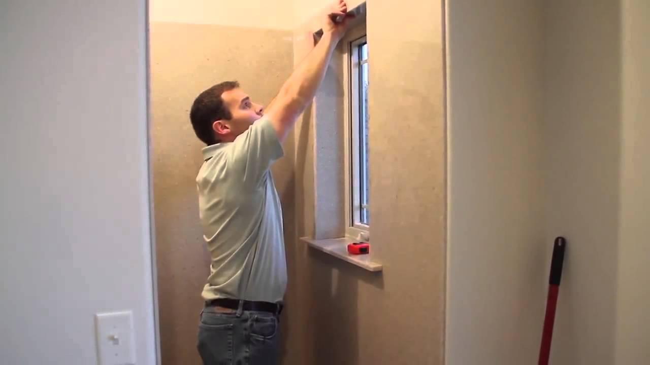 Onyx Shower Installation  Window Sill and Casing Trim