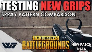 [OUTDATED] GUIDE: All NEW GRIPS tested. Spray pattern comparison, Assault rifle (M416) - PUBG