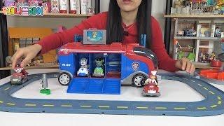 Jennyplay 퍼피구조대 피규어 미션크루져 자동차 장난감 놀이 Paw Patrol Mission Paw Mission Cruiser Robo Dog and Vehicle