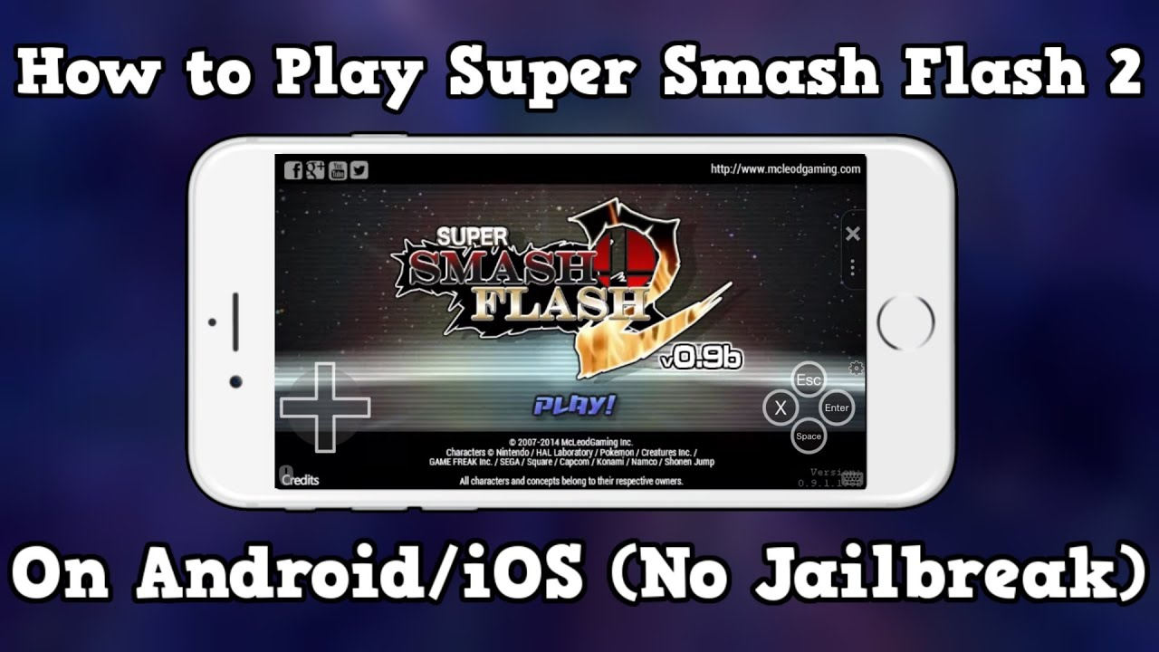 How to play Super Smash Flash 2 on Android/iOS (No Jailbreak)