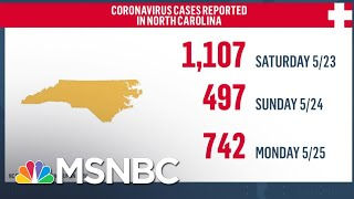 North Carolina Sees Highest One-Day Spike In Coronavirus Cases | MSNBC