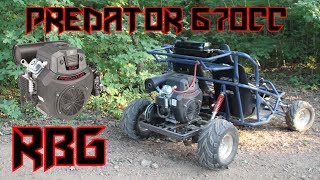 Predator 670cc Off Road Go Kart First Ride