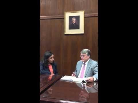 Congressman John Culberson interviews Federal District Judge Alia Moses