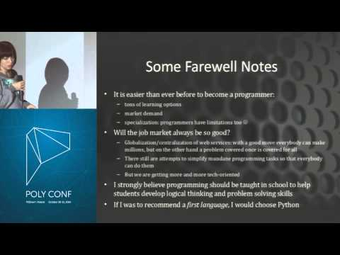 PolyConf 14: Should Everybody Learn to Code? / Justyna Walkowska