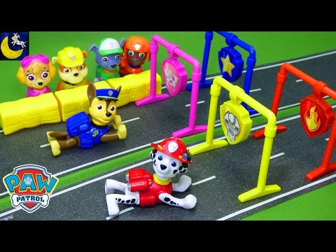 Thumbnail: New Paw Patrol Toys R Us Toys Pull Back Racers Pups Gift Set Marshall Chase Skye Zuma Racer Toys