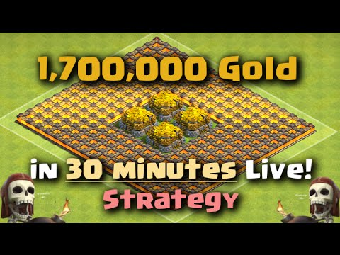 Clash of Clans - How to make 1.7 MILLION GOLD IN 30 MINUTES FAST!!
