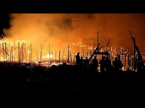 شاهد: حرائق تلتهم 600 كوخا في ضاحية مانوسا بالبرازيل  - نشر قبل 8 دقيقة
