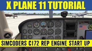 X Plane 11 SimCoders C172 REP Engine Start Up Procedure
