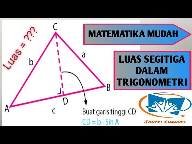 Luas Segitiga Dalam Trigonometri Youtube
