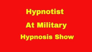 Comedy Hypnotist Richard Barker at His Latest Military Hypnosis Show