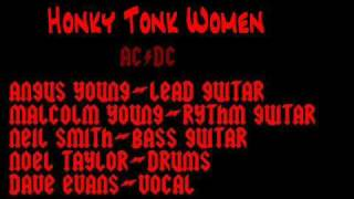 AC/DC with Dave Evans Honky Tonk Woman(Rolling Stones cover) First Recorded Gig Live '74 Rare