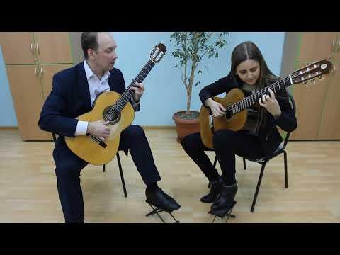 """Мария Беккер и Николай Шелухин/дуэт гитаристов/""""Предчувствие полета""""/г.Калининград, 04.12.2017"""