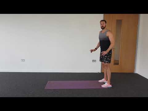 Walkdowns / inchworm exercise