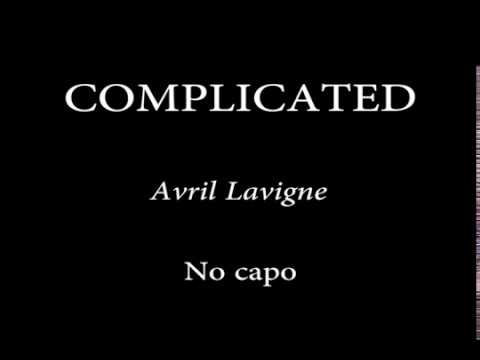 COMPLICATED AVRIL LAVIGNE Easy Chords and Lyrics1