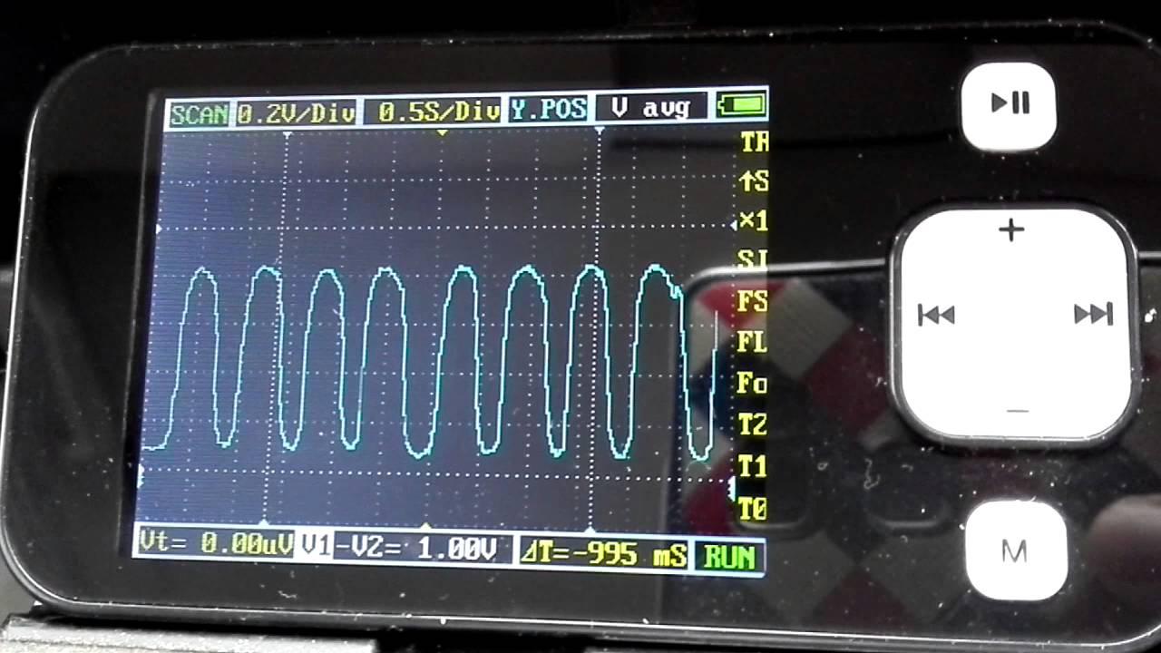 Проверка узкополосного датчика кислорода осциллографом