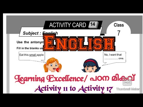 Class 7 padana migavu English Learning Excellence Record Activity 11 to Activity 17