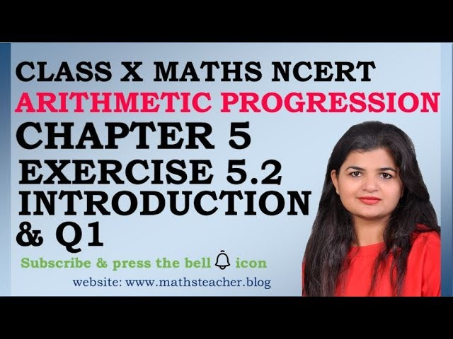 Chapter 5 Arithmetic Progression Ex 5.2 Introduction,Q1 class 10 Maths