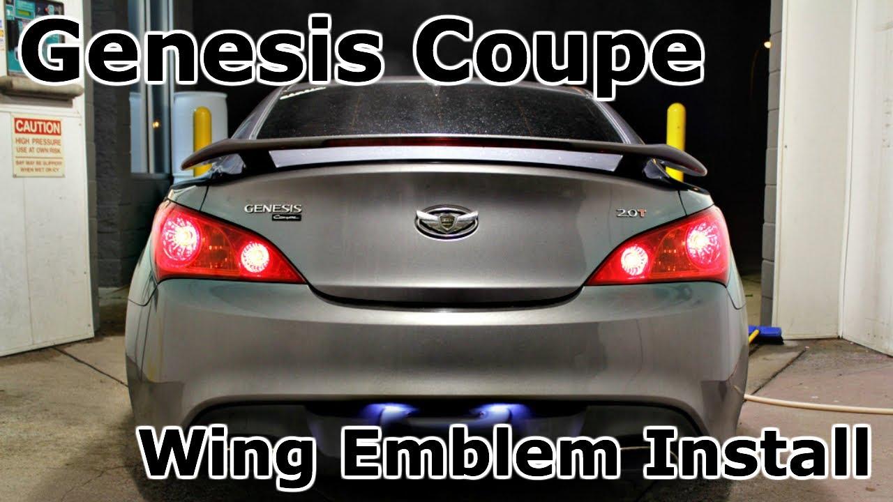 Hyundai Genesis Coupe Custom Wing Emblem Rear Install