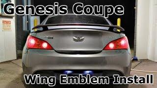 Tonet 2X Custom Carbon Fiber Look Front//Rear Trunk Genesis Coupe Emblem Badge For Hyundai Genesis Coupe