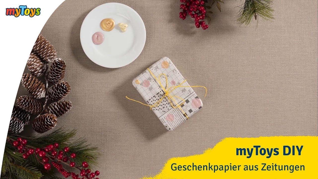 geschenkpapier selber machen | diy weihnachtsgeschenkpapier aus