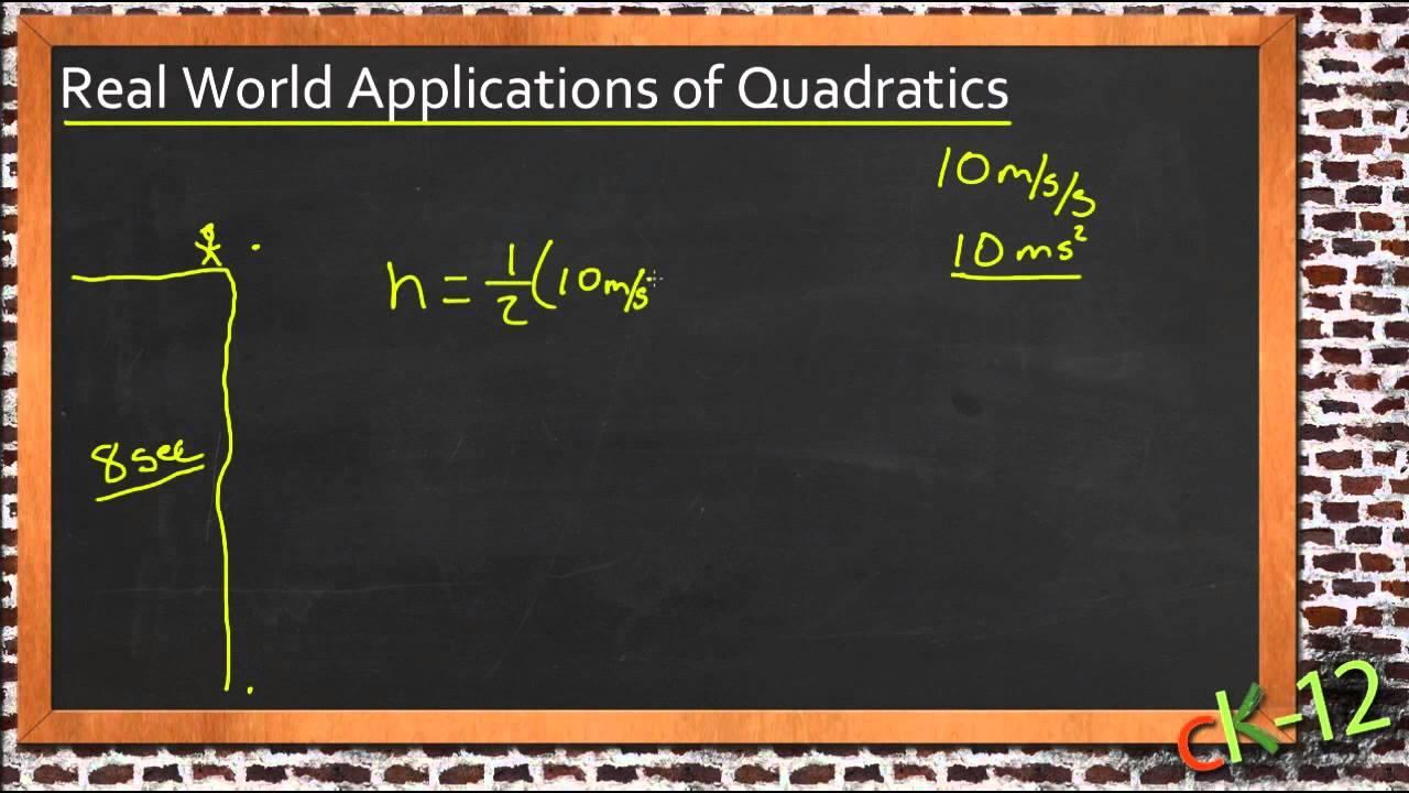 Solving real world problems using quadratic equations an solving real world problems using quadratic equations an application algebra i youtube robcynllc Images