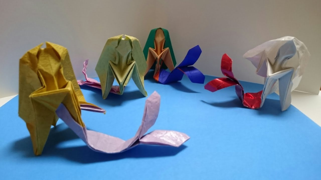 How To Make A Easy Origami Mermaid Origami Tutorial Lets Make It