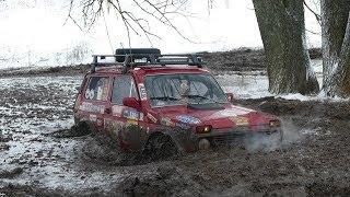 Очень крутая НИВА против ГАЗ-66 в ледяном болоте ПОКА НИЧЬЯ off road 4X4
