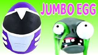 jumbo power rangers egg surprise and zombie goo spongebob spiderman play doh eggs by dctc