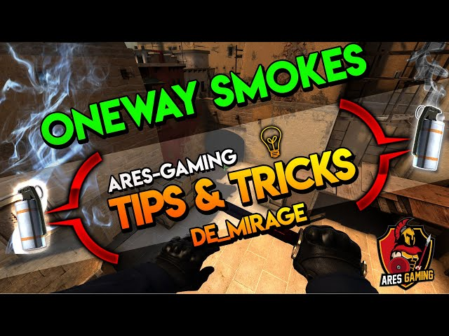 Tips & tricks: DE_MIRAGE 7 ONEWAY SMOKES  CS:GO [2019] by Ares-Gaming
