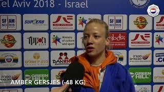 EK judo 2018 - Amber Gersjes