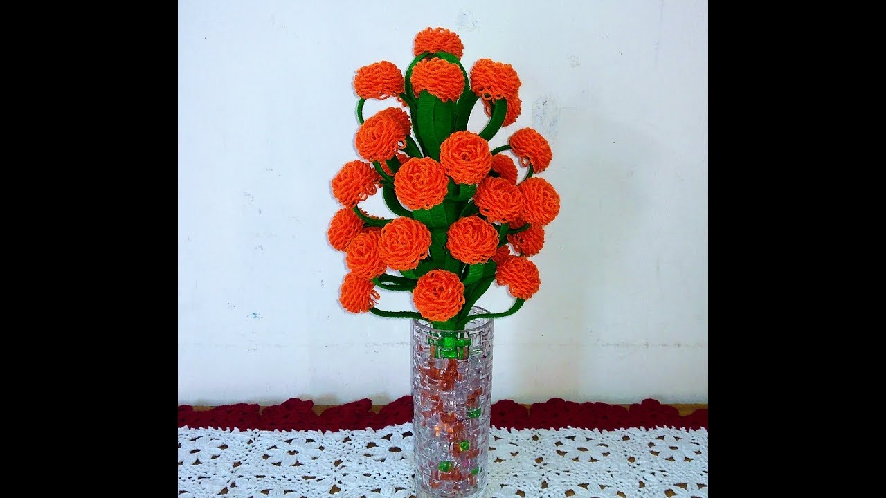 Make Woolen And X Rays Paper Beautiful Flower Guldasta