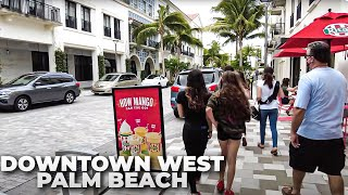 Walking Downtown West Palm Beach, Florida