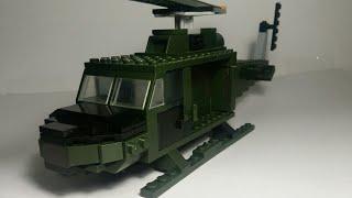 как сделать из лего вертолет военный