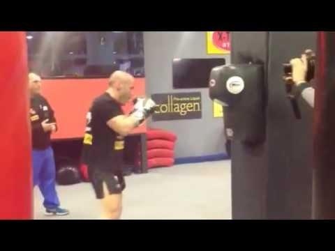 Iron Mike Zambidis training
