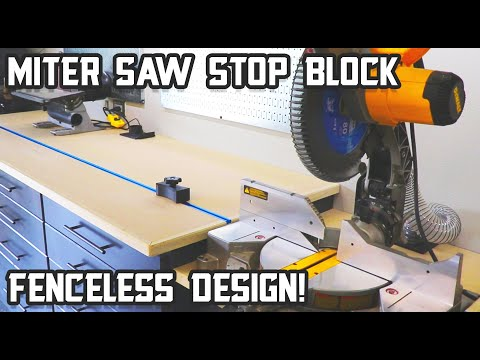 "How to make a ""fenceless"" stop block system for your miter saw"