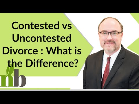 Contested vs Uncontested Divorce : What is the Difference? | Divorce Attorney David Pace