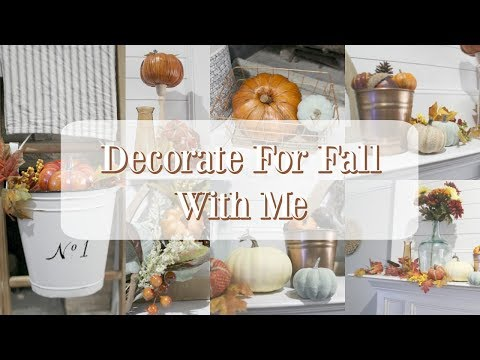 DECORATE FOR FALL WITH ME   MANTEL DECORATING IDEAS   FALL DECOR IDEAS