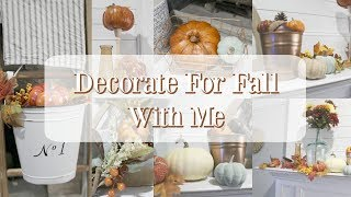 DECORATE FOR FALL WITH ME | MANTEL DECORATING IDEAS | FALL DECOR IDEAS