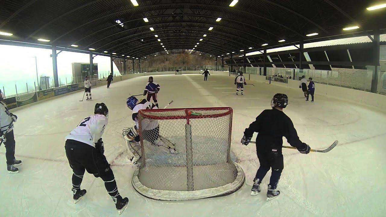 seagate hockey braemar outdoor rink 12 18 15 youtube