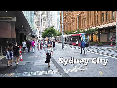 Australia Sydney City - Walking from Martin Place to The Galeries | Martin Place Christmas Tree 2020