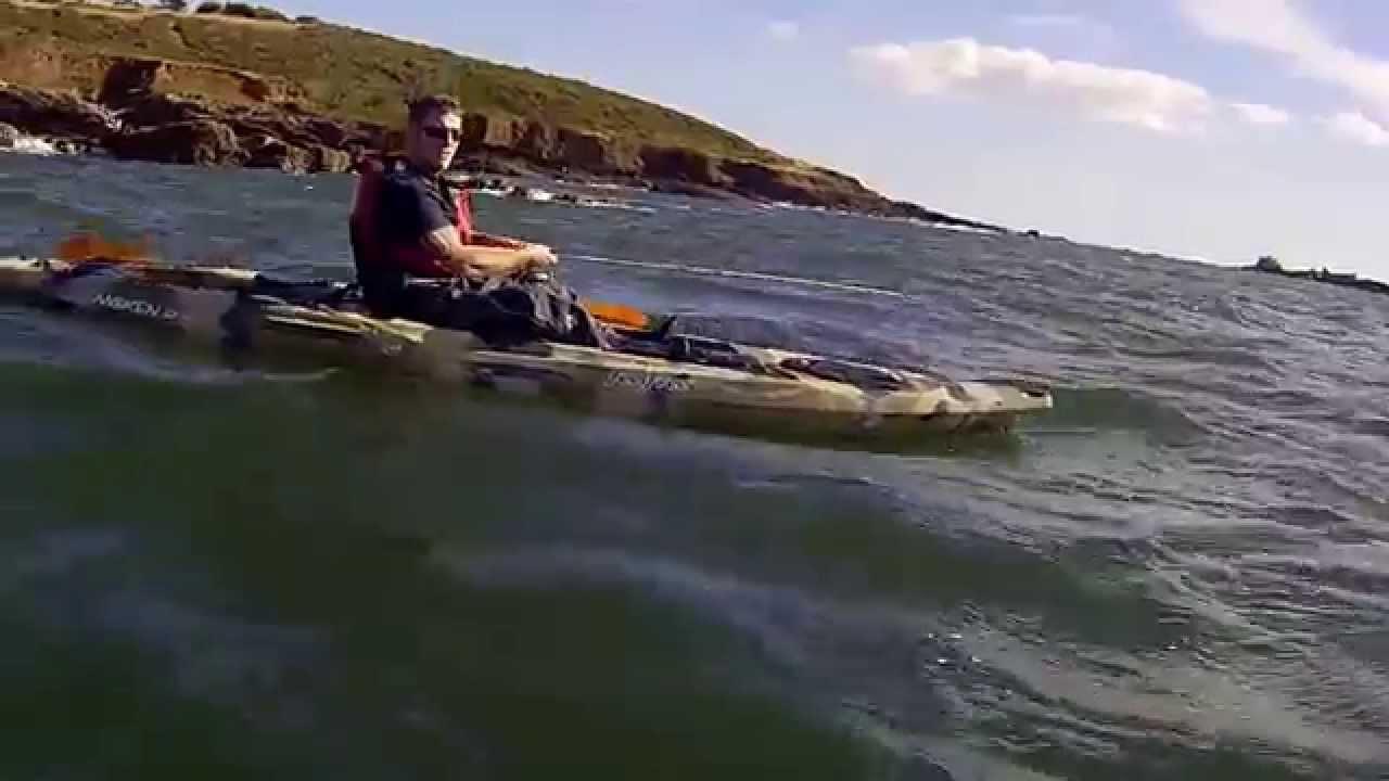 Feelfree Moken 12 5 Fishing Kayak In Plymouth Sound Youtube