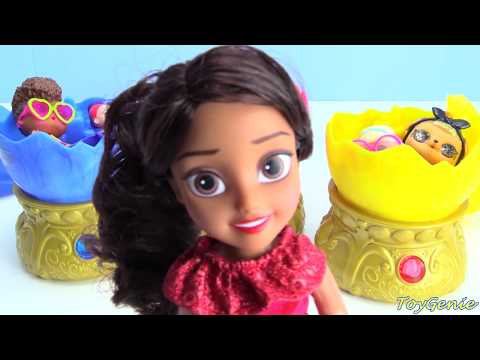 LOL Surprise Confetti Pop Giant Surprise Eggs and Elena of Avalor Baby Jaquin Cubs