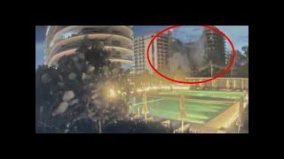 Una cámara capta el momento exacto del derrumbe del edificio de Miami