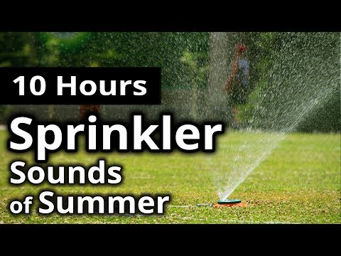 OVERNIGHT SPRINKLERS | Sound ambience from a summer night | 10 hours of lawn watering! SLEEP/RELAX