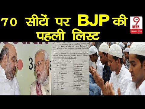 GUJARAT ASSEMBLY ELECTION को लेकर BJP की पहली लिस्ट जारी, नहीं है कोई मुस्लिम उम्मीदवार