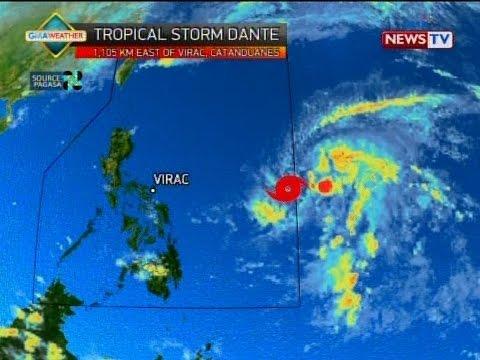 SONA: Pumasok na sa Philippine Area of Responsibility ang tropical storm Dante