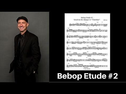 Bebop Jazz Etude #2 for trumpet or tenor with free PDF