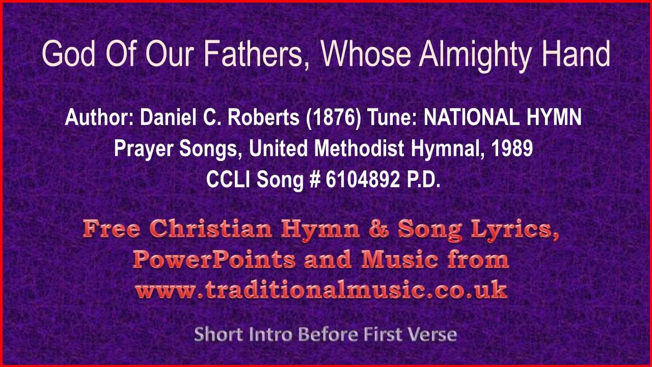 God of our fathers whose almighty hand hymn lyrics music youtube god of our fathers whose almighty hand hymn lyrics music thecheapjerseys Images